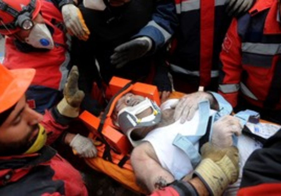Rescue workers in Turkey.
