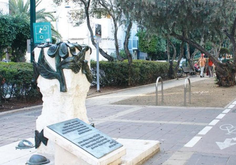 Memorial for terror victims on Ben-Gurion Blvd. TA