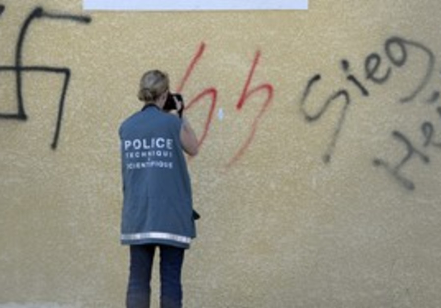 Nazi imagery used in graffiti [file]