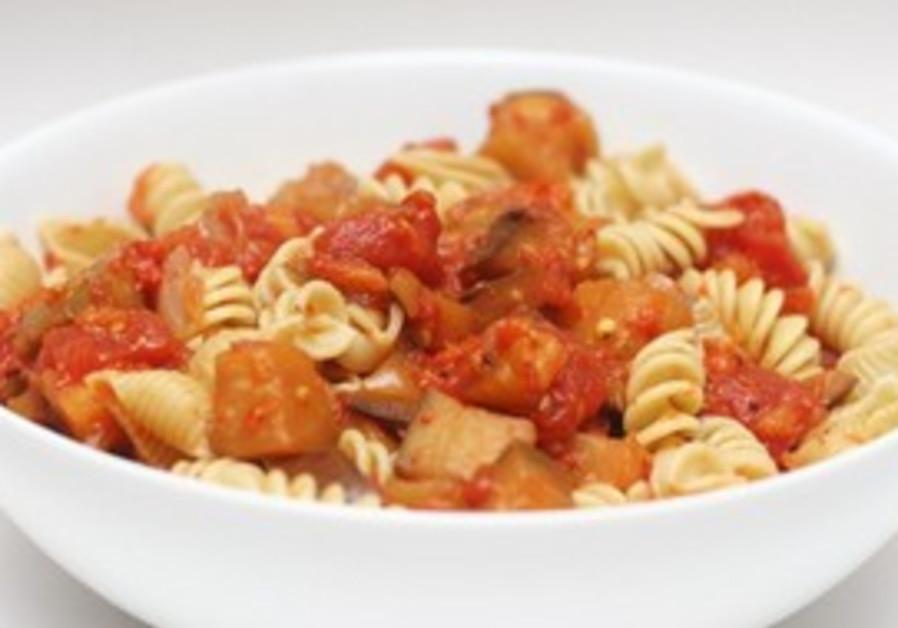 Eggplant pasta dish