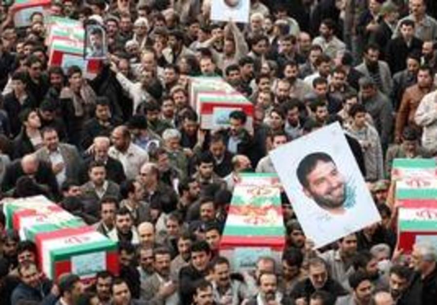Coffin of Iranian Revolutionary Guards commander