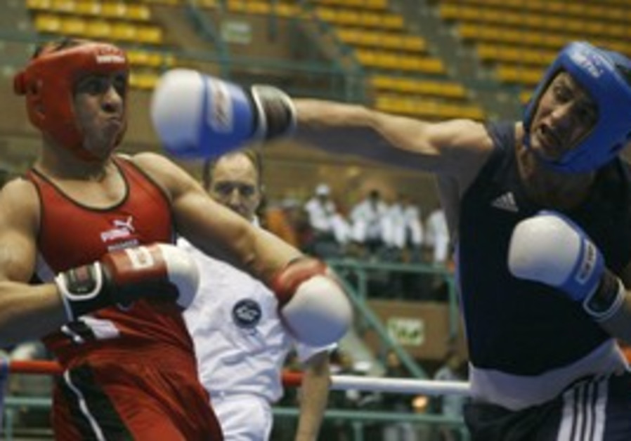 Syrian, Jordanian boxers fight - Arab Games [file]