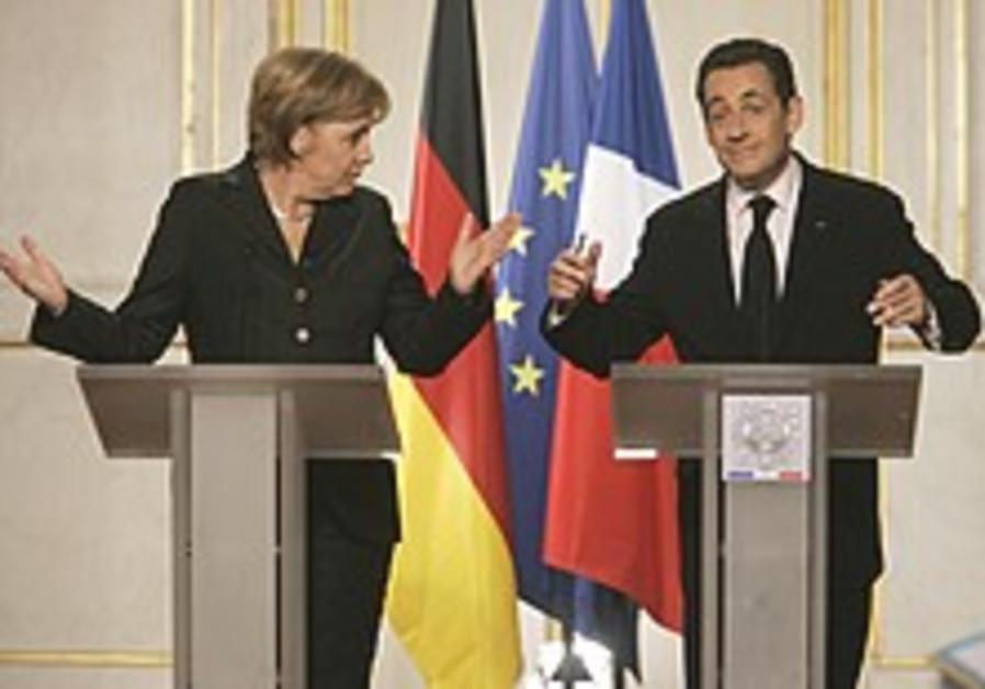 Merkel, Sarkozy urge continued int'l pressure on Iran