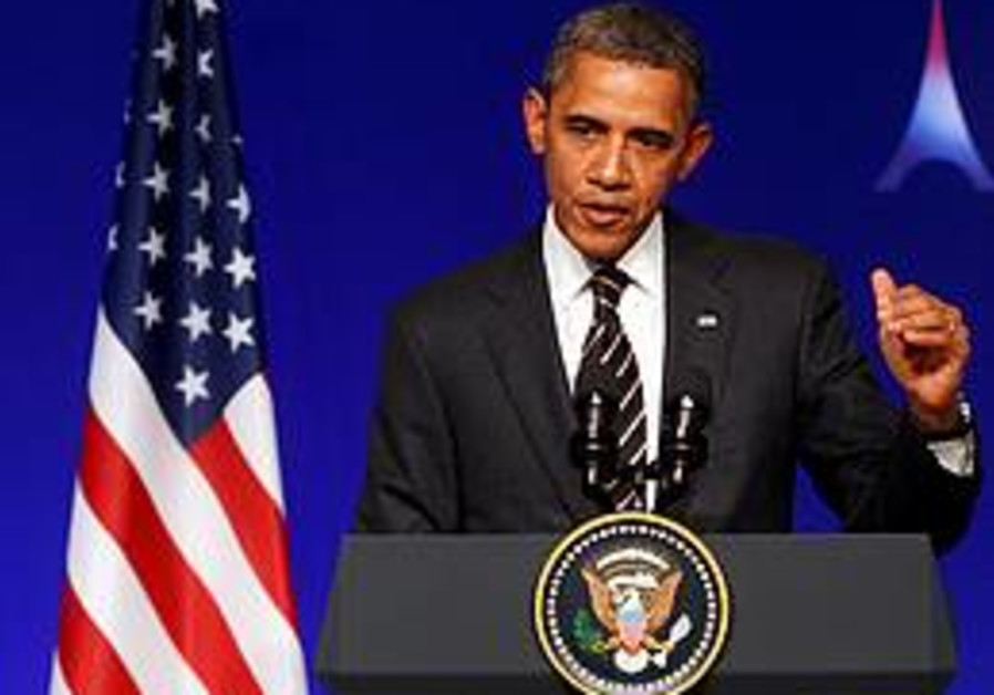 U.S. President Barack Obama addresses during a new