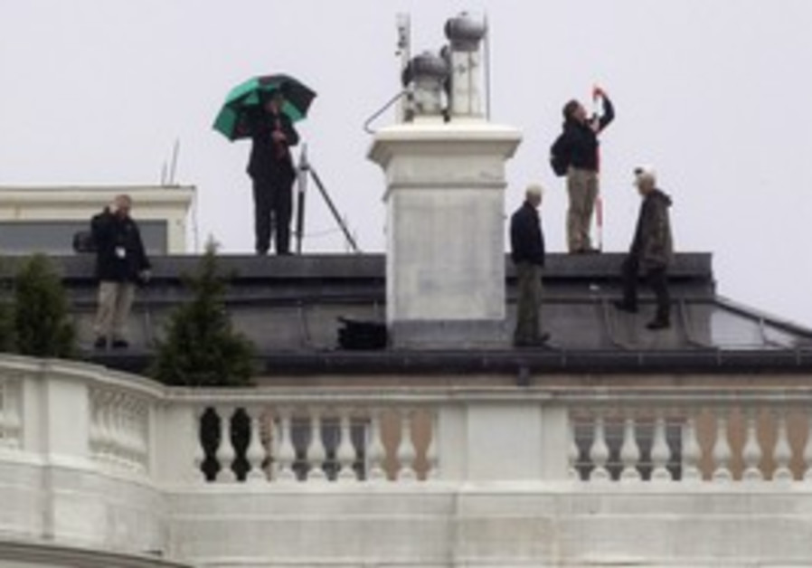 Crew atop White House where bullets struck