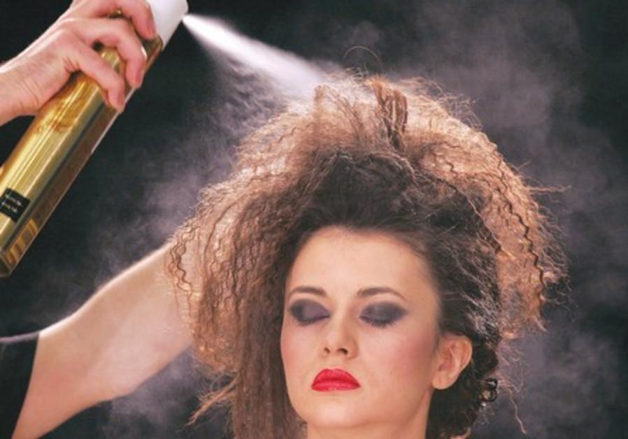 Hairspray can irritate the skin