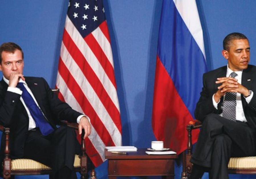 Obama and Medvedev at press conference