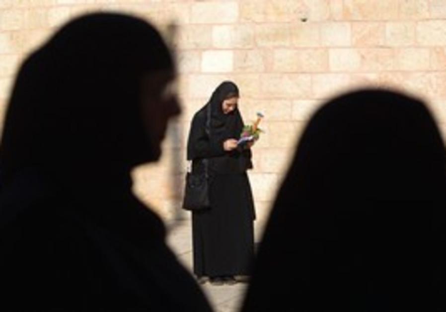 Orthodox nuns in Jerusalem's Old City.
