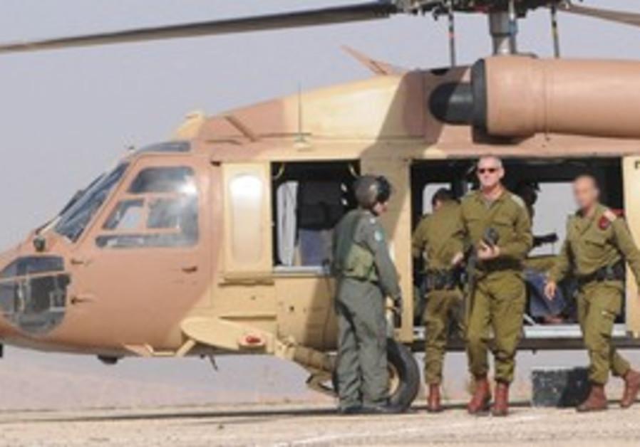 Benn Gantz, helicopter