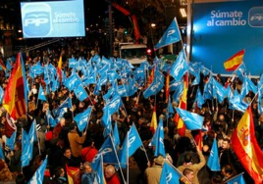 People's Party supporters on Spain's election day