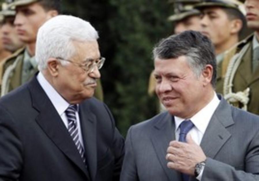 Jordan's King Abdullah II with Abbas