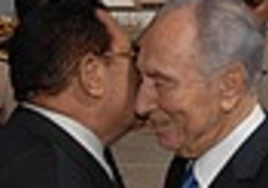 Happy 30th, Peres tells Mubarak