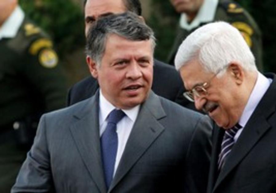 PA President Abbas and Jordan's King Abdullah II