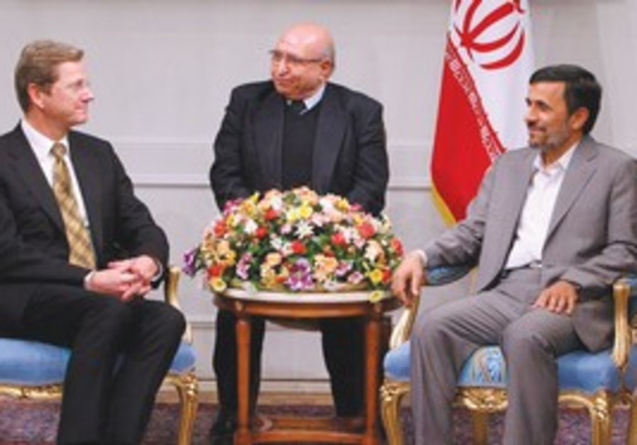 Minister Guido Westerwelle meets with  Ahmadinejad