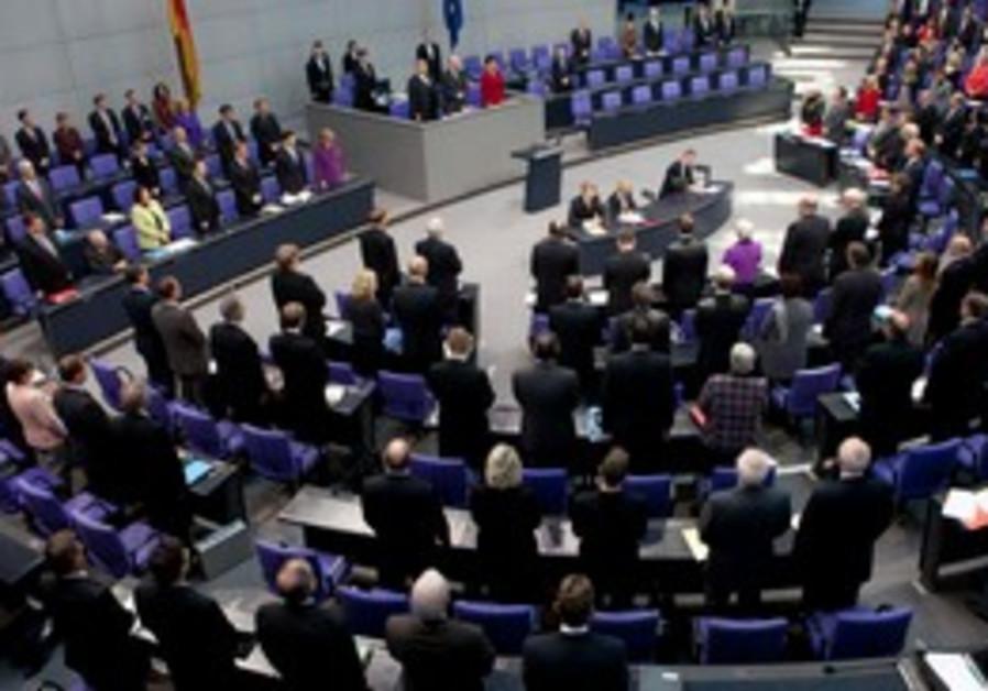 German deputies observe minute of silence