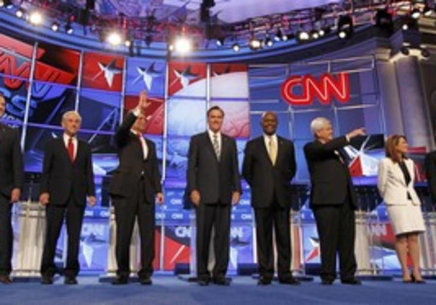 Republican candidates at debate 22 Nov