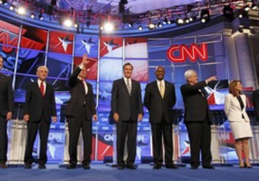 Republican candidates at debate 22 Nov