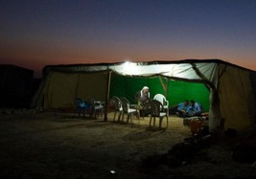 A Beduin man in al-Arakib.