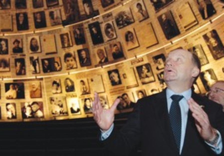 Lithuanian PM Andrius Kubilius at Yad Vashem.