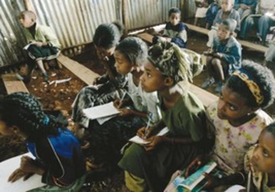 Ethiopian Jews in Gondar Province.