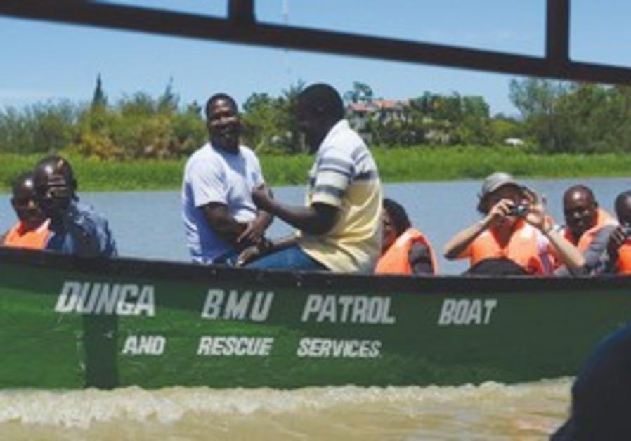 Water contamination experts at Lake Victoria,