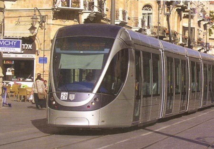 Jerusalem's light rail train.