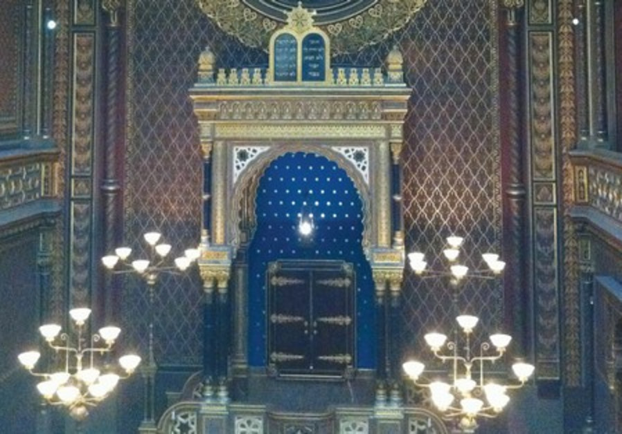 The Sanctuary of the Spanish synagogue in Prague.