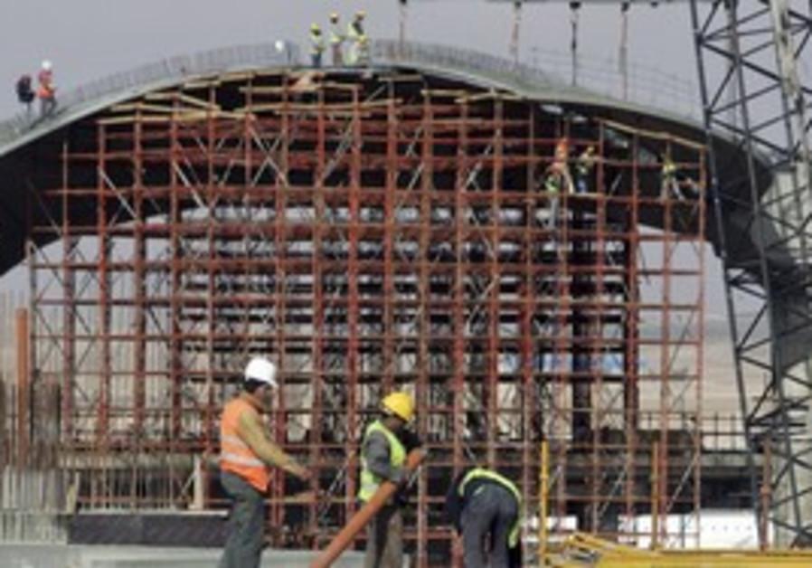 Jordan Airport  being built