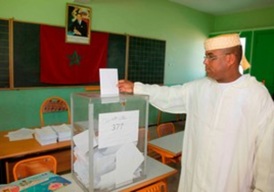 Voting in Morocco's election.