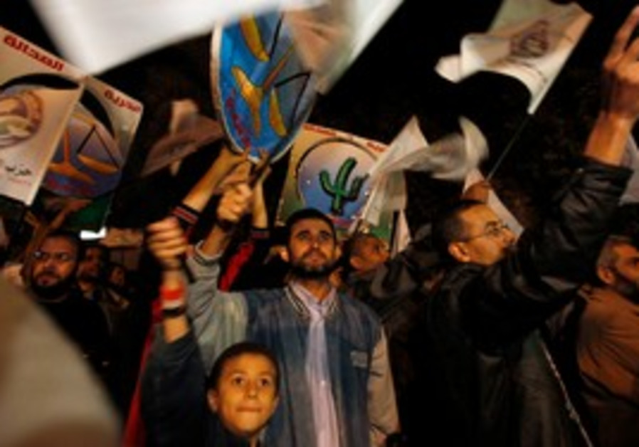 Muslim Brotherhood supporters attend a Cairo rally