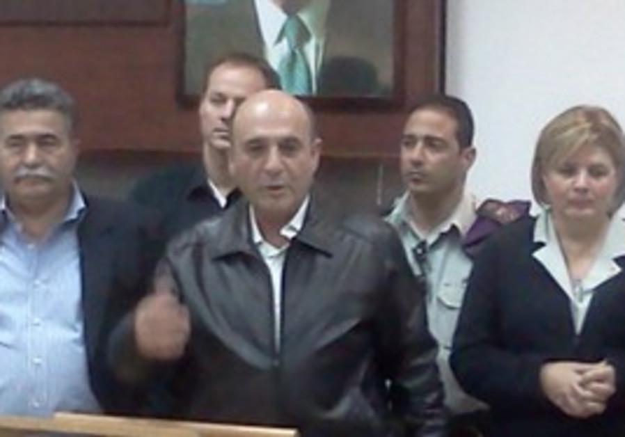 Shaul Mofaz at Tel Hashomer IDF induction base