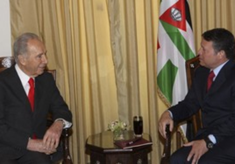 Peres meets Abdullah