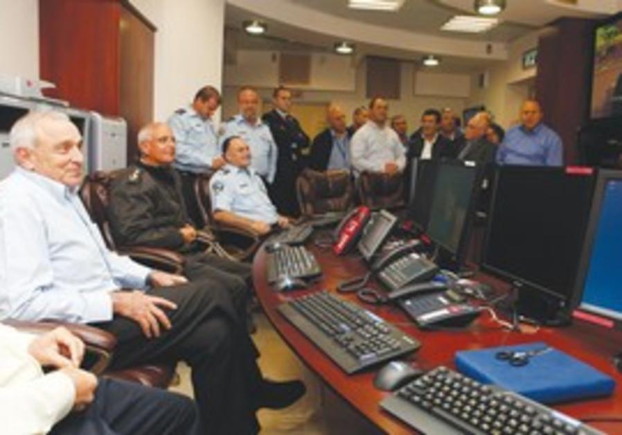Aharonovitch in emergency control center