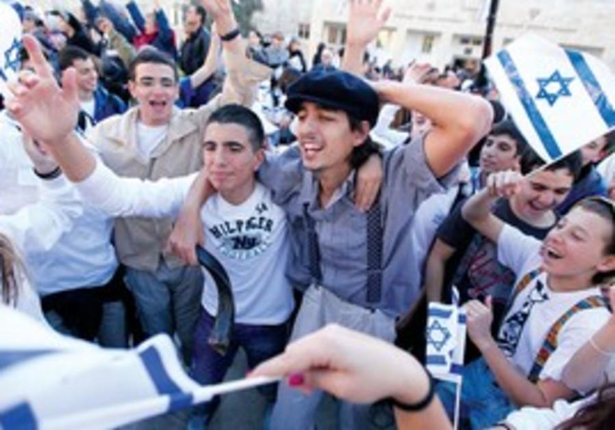 Scene from reenactment of November 29 celebrations