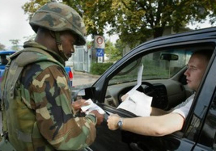 US Army soldier in Heidelberg, Germany