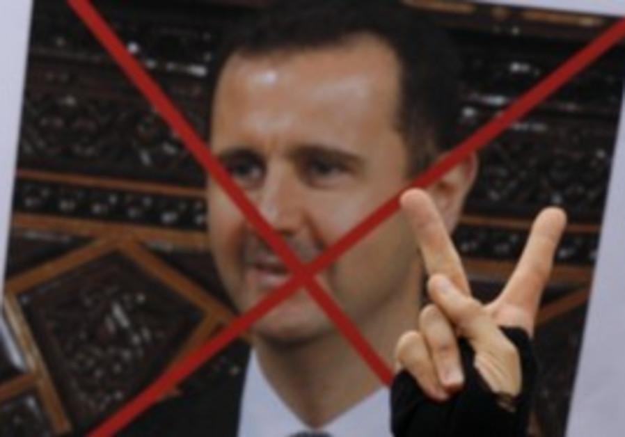 Protesters against Syrian President Bashar Assad