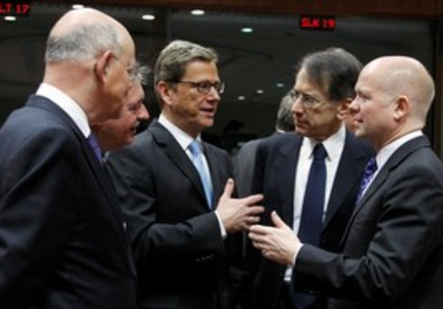 European foreign ministers ahead of EU meeting