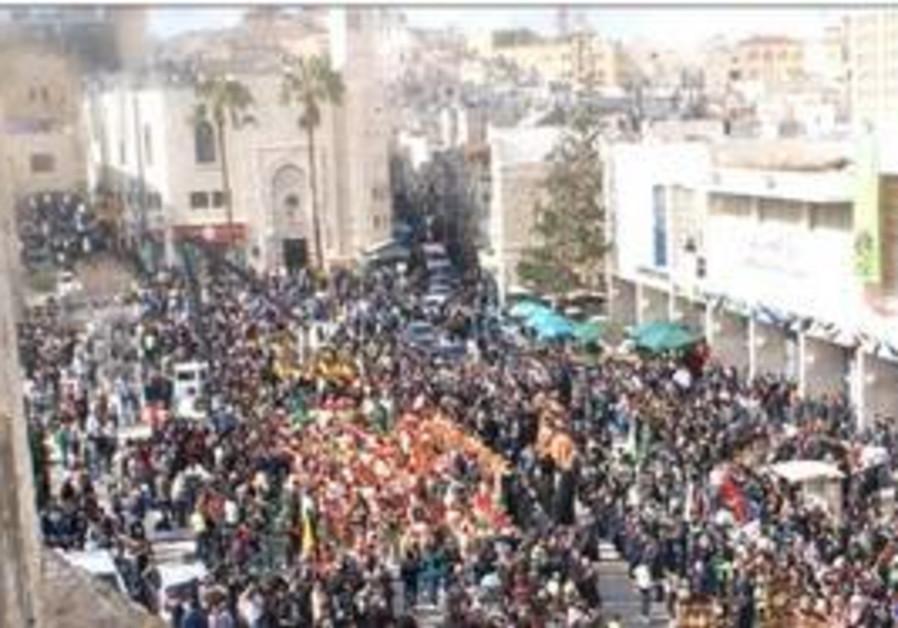 Christmas procession in Bethlehem
