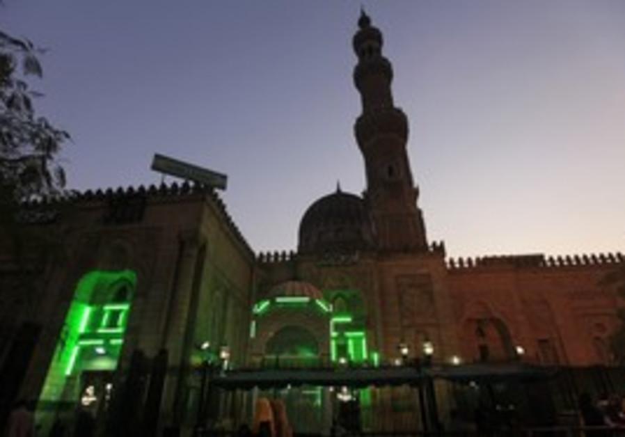 Sayyida Zainab mosque is seen in Cairo