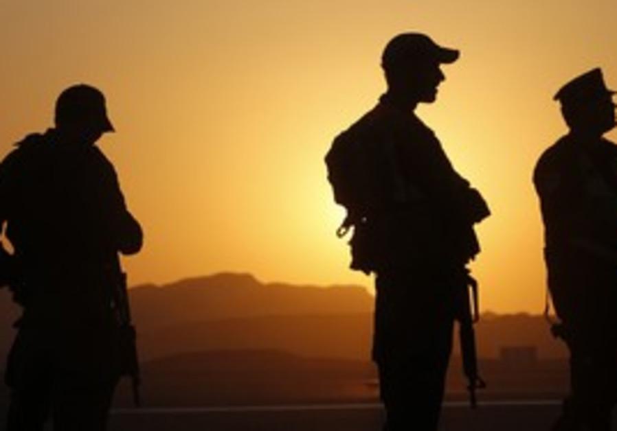 IDF soldiers north of Eilat, Sinai