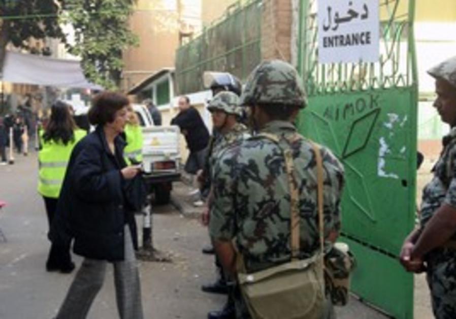 Egyptian woman voting