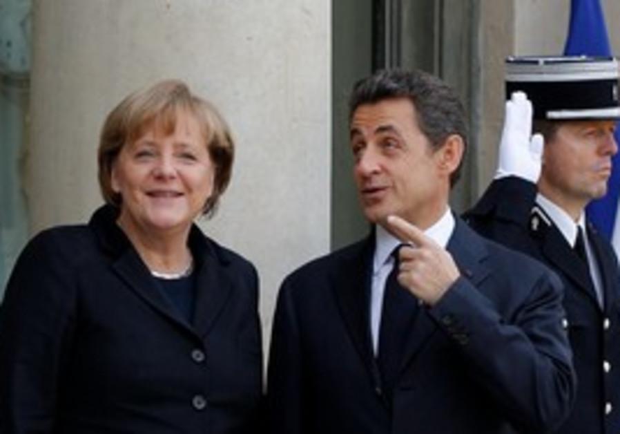 Nicolas Sarkozy and Angel Merkel