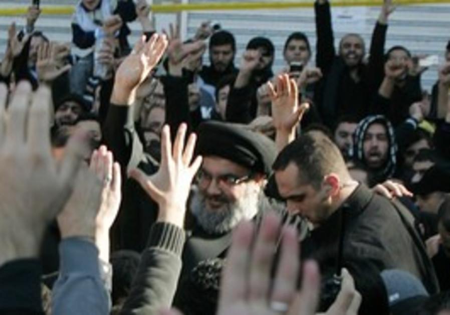 Hezbollah leader Hassan Nasrallah seen in public