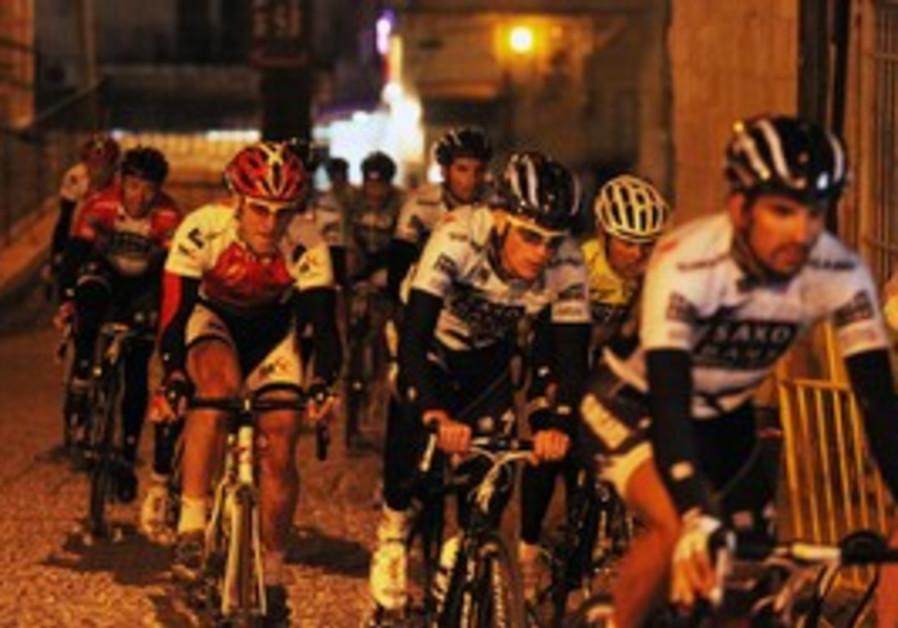 Riders in the Tour de Jerusalem
