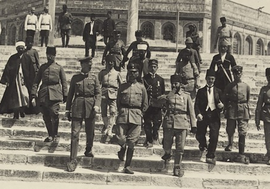 Falkenhayn on the Temple Mount with Jamal Pasha, T