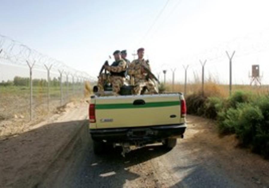 Iraqi patrol on Syrian border