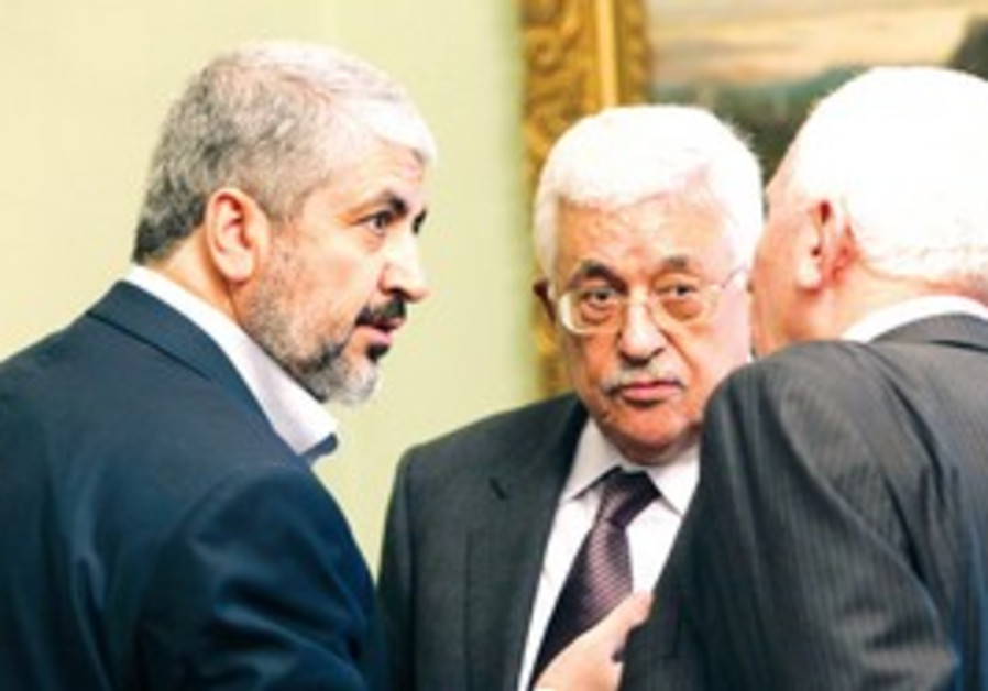 Khaled Mashaal and Mahmoud Abbas.