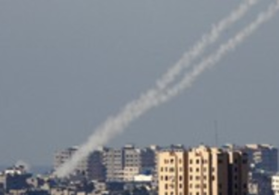 Kassam rockets being fired from Gaza Strip [file]