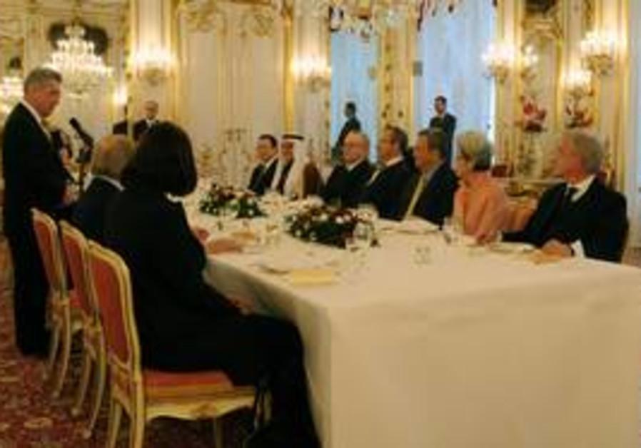 Ehud Barak at World Policy Conference dinner
