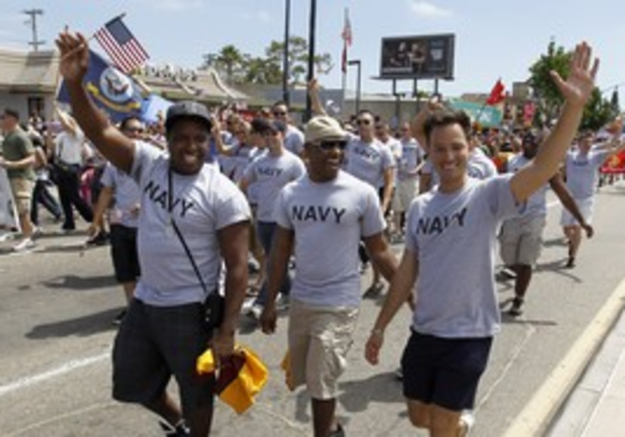 US soldiers participate in Gay rights march